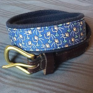 Kids football Vineyard Vines belt, leather